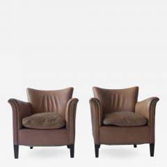 Pair of 1930s Danish Leather Club Chairs - 1743475