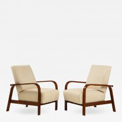 Pair of 1930s Italian Reclining Armchairs - 1924580