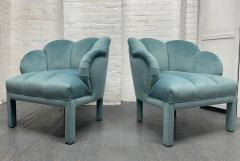 Pair of 1940s Art Deco Scalloped Top Club Chairs - 1950862