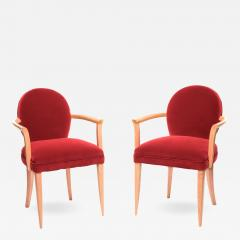 Pair of 1940s French bridges armchairs - 1001474