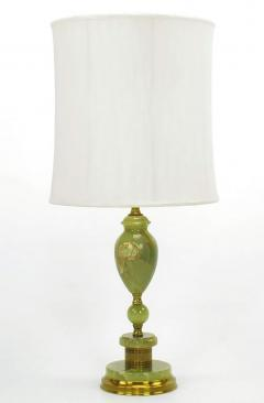 Pair of 1940s green onyx and brass regency table lamps pair of 1940s green onyx and brass regency table lamps 203671 mozeypictures Images