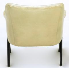 Pair of 1940s Modernist Club Chairs in Original Bone Glazed Leather - 134544