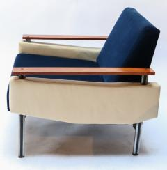 Pair of 1950s Brazilian Caviuna Two Tone Velvet Armchairs - 988761