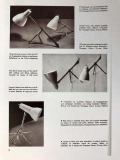 Pair of 1950s Giuseppe Ostuni Ochetta Wall or Table Lamps for O Luce - 2041450