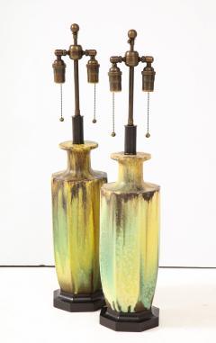 Pair of 1950s Glazed Ceramic Lamps  - 1316176