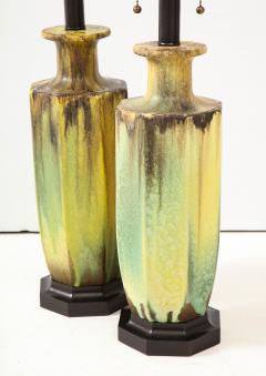 Pair of 1950s Glazed Ceramic Lamps  - 1316177