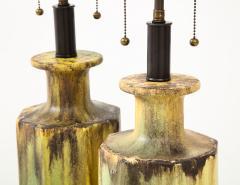 Pair of 1950s Glazed Ceramic Lamps  - 1316184