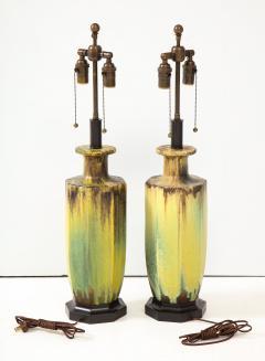 Pair of 1950s Glazed Ceramic Lamps  - 1316195