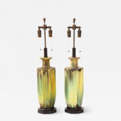 Pair of 1950s Glazed Ceramic Lamps  - 1319579