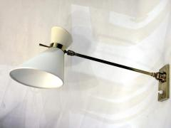 Pair of 1950s wall lights in brass with diabolo shades - 1939719