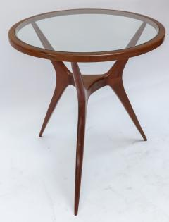 Pair of 1960s Brazilian Spider Leg Wood Side Tables with Glass Tops - 1589448