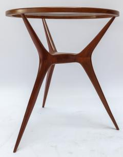 Pair of 1960s Brazilian Spider Leg Wood Side Tables with Glass Tops - 1589449