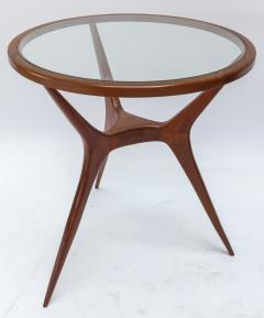 Pair of 1960s Brazilian Spider Leg Wood Side Tables with Glass Tops - 1589450