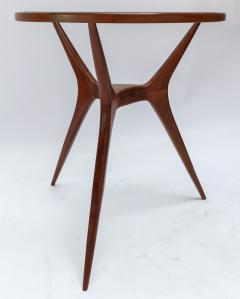 Pair of 1960s Brazilian Spider Leg Wood Side Tables with Glass Tops - 1589451