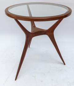 Pair of 1960s Brazilian Spider Leg Wood Side Tables with Glass Tops - 1589452