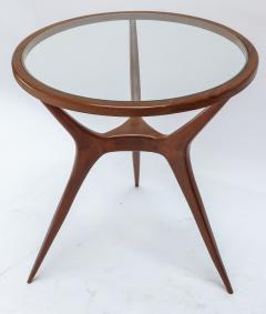 Pair of 1960s Brazilian Spider Leg Wood Side Tables with Glass Tops - 1589453