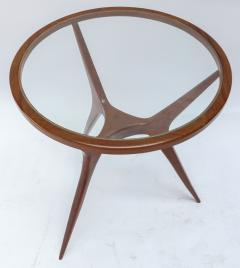 Pair of 1960s Brazilian Spider Leg Wood Side Tables with Glass Tops - 1589455