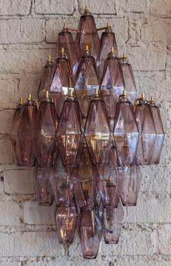 Pair of 1970s Murano Sconces with Amethyst Polyhedron Glass - 914071