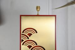 Pair of 1970s tall Lacquered wood lamps - 1075818