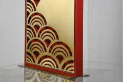Pair of 1970s tall Lacquered wood lamps - 1075821