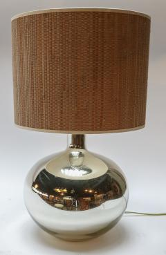 Pair of 1980s Chrome Table Lamps - 962217