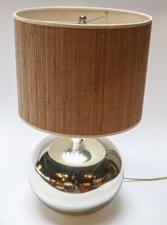 Pair of 1980s Chrome Table Lamps - 962218