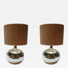 Pair of 1980s Chrome Table Lamps - 963288