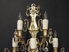 Pair of 19th C Baccarat Quality French Crystal Sconces - 377272