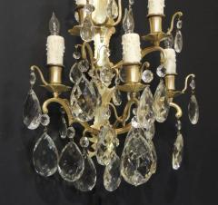 Pair of 19th C Baccarat Quality French Crystal Sconces - 377274