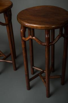 Pair of 19th Century Chinese Elmwood Stands - 1552141