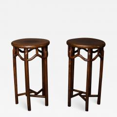 Pair of 19th Century Chinese Elmwood Stands - 1554706