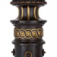Pair of 19th Century English ebonised wood columns - 1433158