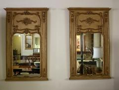 Pair of 19th Century Gilded Wood French Trumeau Mirror - 783703