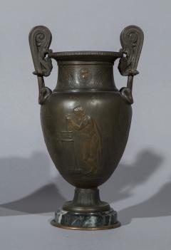 Pair of 19th Century Grand Tour Greek Bronze Volute Krater Vase Lamps - 999993