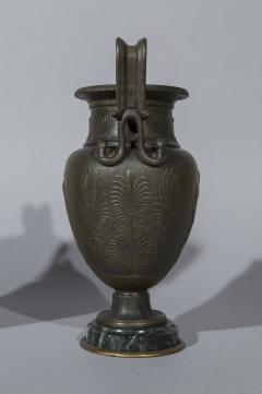 Pair of 19th Century Grand Tour Greek Bronze Volute Krater Vase Lamps - 999995