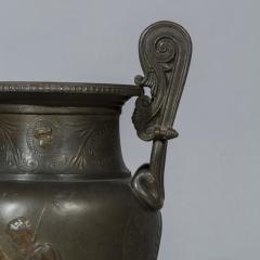 Pair of 19th Century Grand Tour Greek Bronze Volute Krater Vase Lamps - 999996