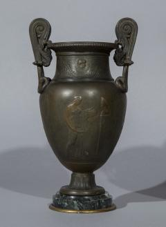 Pair of 19th Century Grand Tour Greek Bronze Volute Krater Vase Lamps - 999997