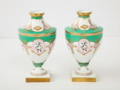 Pair of 19th Century Porcelain Urn Vases - 1136602