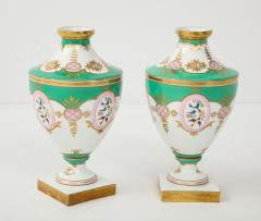 Pair of 19th Century Porcelain Urn Vases - 1136603