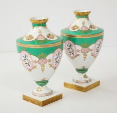 Pair of 19th Century Porcelain Urn Vases - 1136605