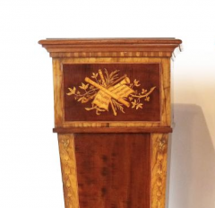 Pair of 19th century Adamesque Mahogany and Olive wood Pedestals - 2120016