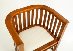 Pair of 20th Century Slatted Cherrywood Chairs - 931327