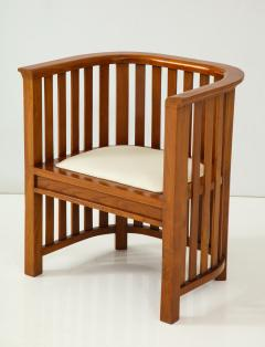 Pair of 20th Century Slatted Cherrywood Chairs - 931328