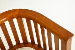 Pair of 20th Century Slatted Cherrywood Chairs - 931329