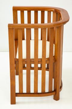 Pair of 20th Century Slatted Cherrywood Chairs - 931330