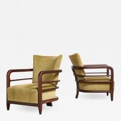 Pair of 3 Leg Lounge Chairs - 1834296