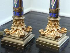 Pair of Aesthetic Movement Cloisonne and Bronze Table Lamps - 419020