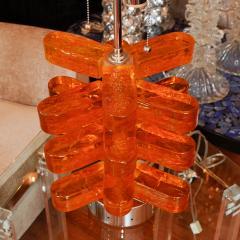 Pair of Amber Murano Glass Lamps - 70226