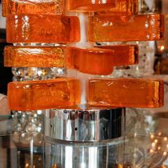Pair of Amber Murano Glass Lamps - 70227