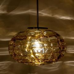 Pair of Amber Murano Glass Pendant Lamp 1960s - 1337048